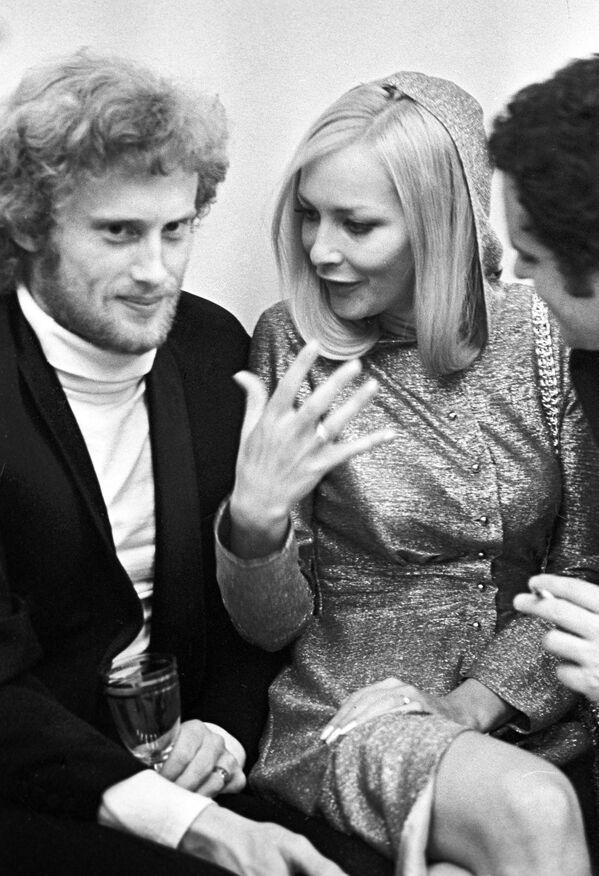 Daniel Olbrychski i Barbara Brylska na MFF w Moskwie, 1971 rok  - Sputnik Polska