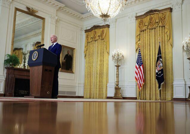 Prezydent USA Joe Biden w Białym Domu.