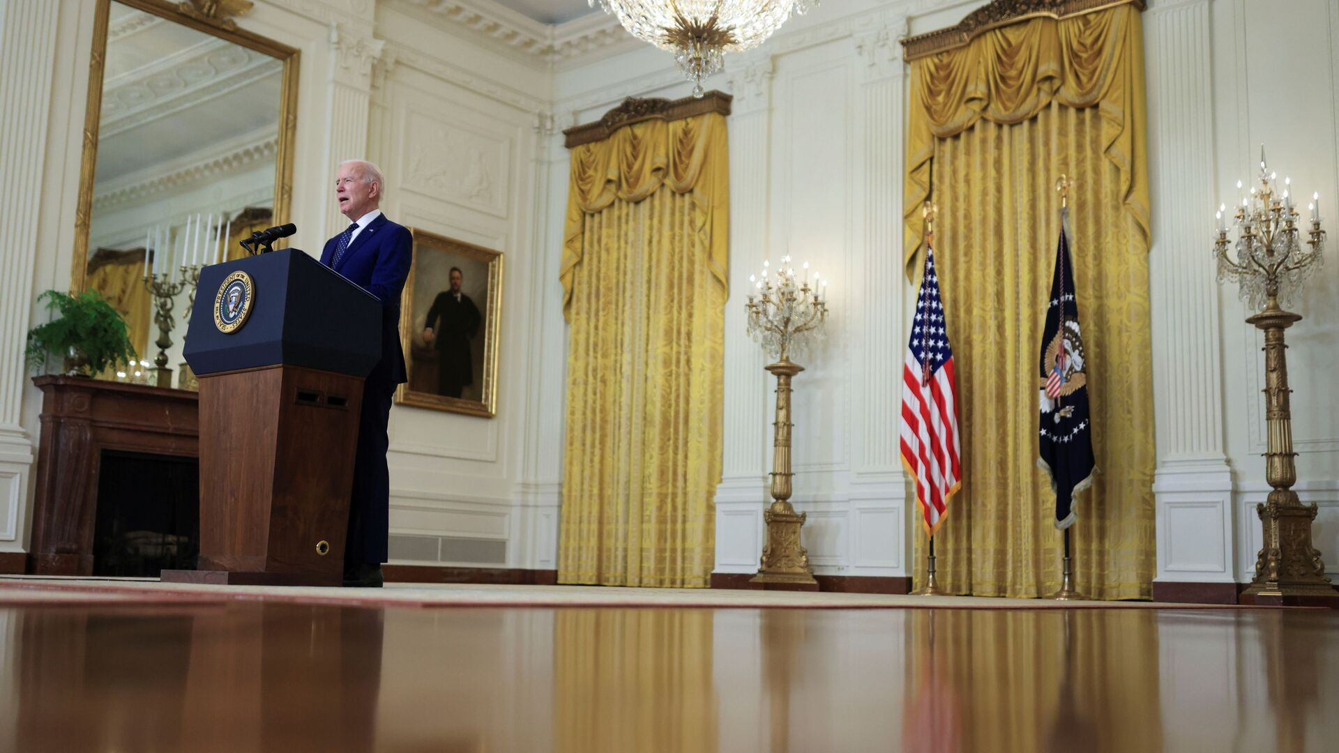 Prezydent USA Joe Biden w Białym Domu. - Sputnik Polska, 1920, 19.07.2021