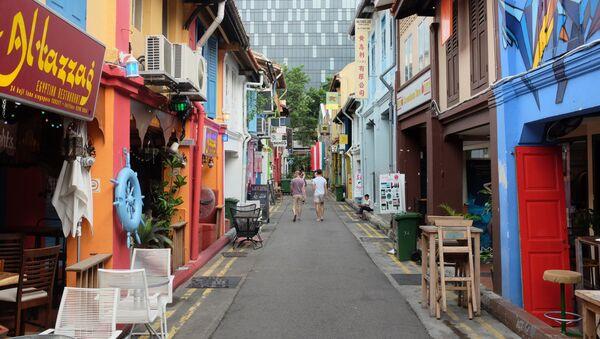 Ulica Haji Lane w Singapurze - Sputnik Polska