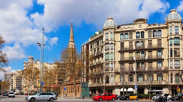 Ulica Passeig de Sant Joan w Barcelonie, Hiszpania - Sputnik Polska