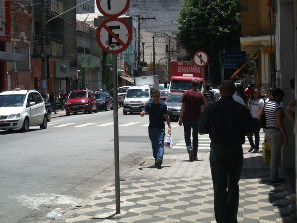 Ulica Rua Três Rios w São Paulo - Sputnik Polska