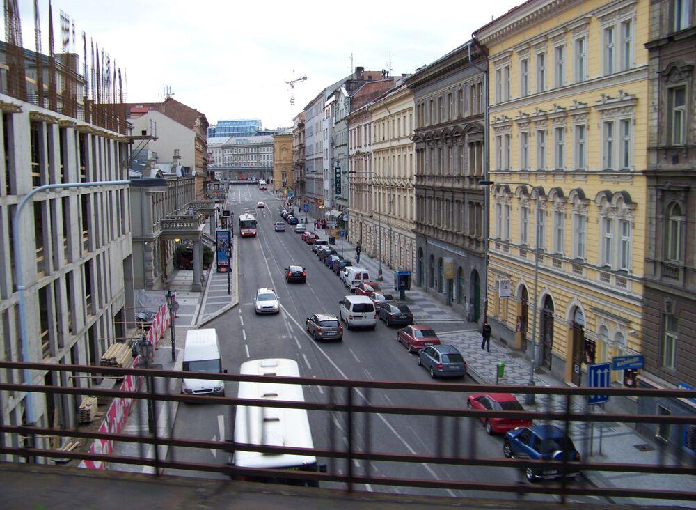 Ulica Křižíkova w Pradze