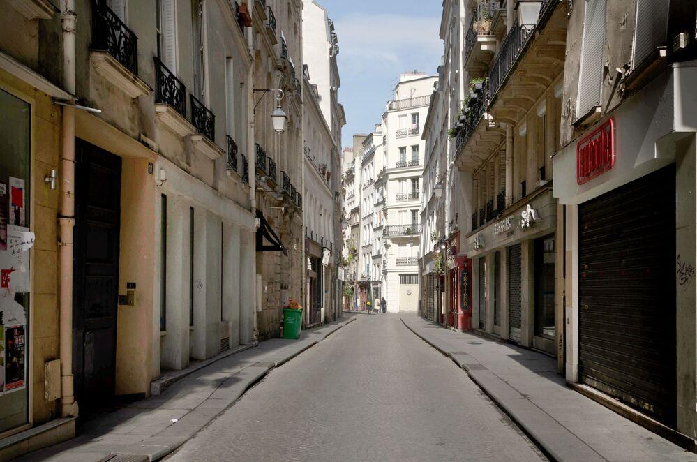 Ulica Rue Tiquetonne w Paryżu