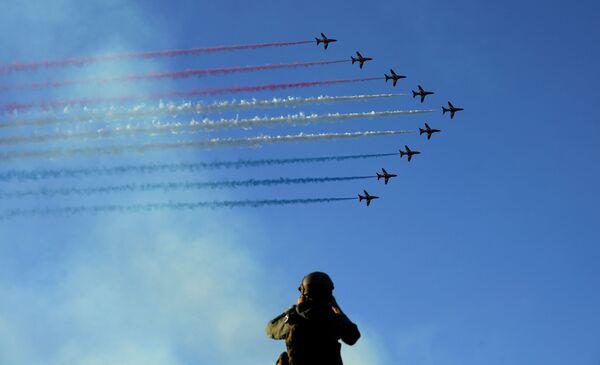 Występ zespołu akrobacyjnego Royal Air Force w Kornwalii - Sputnik Polska