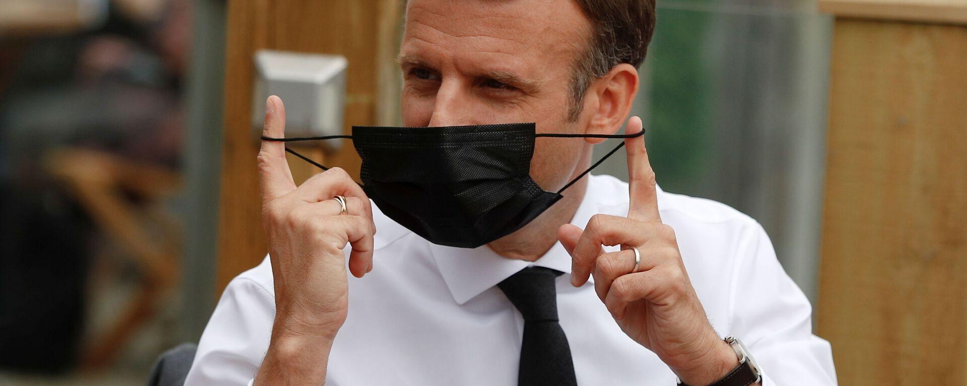 Prezydent Francji Emmanuel Macron - Sputnik Polska, 1920, 13.06.2021