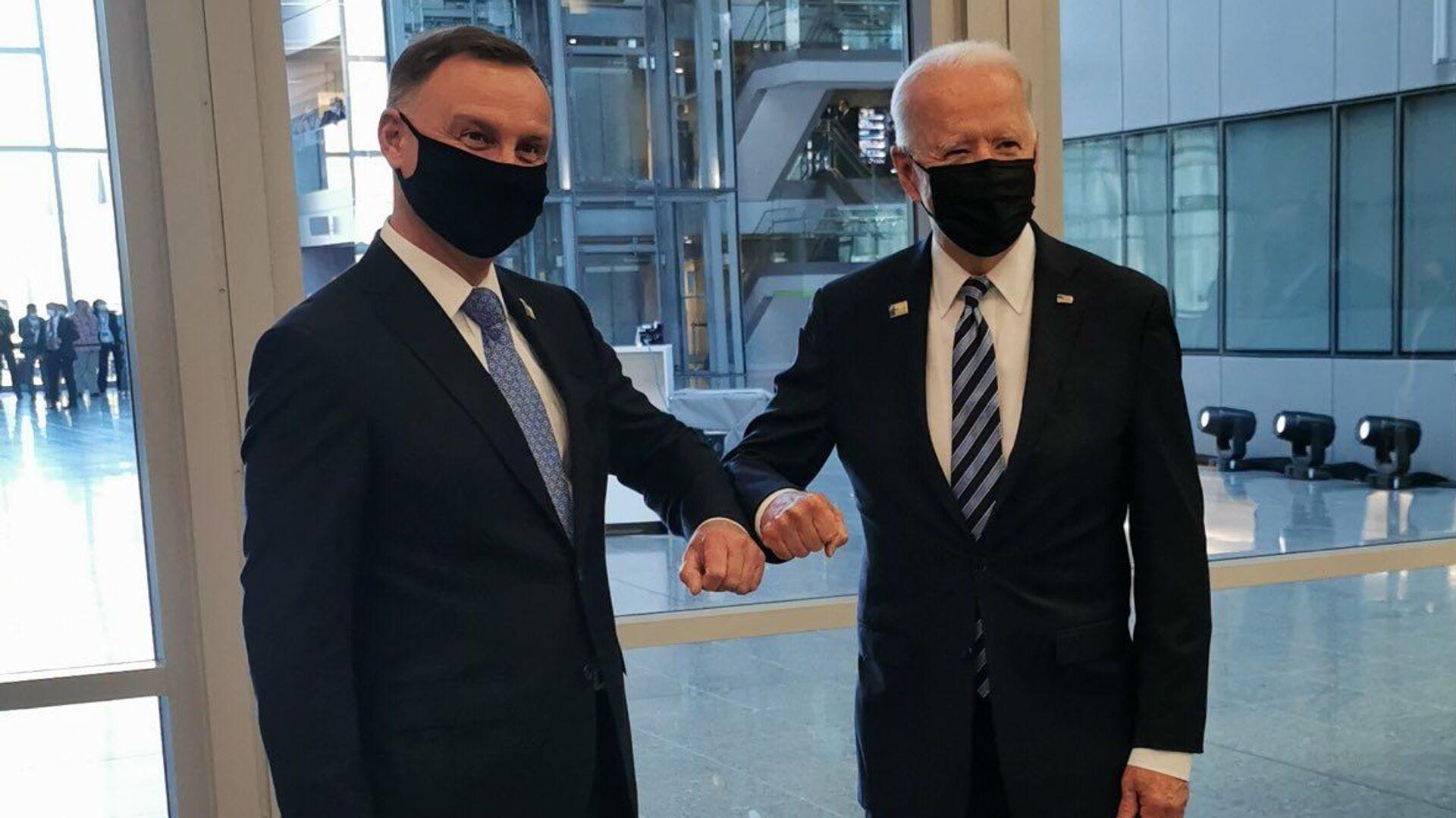 Andrzej Duda i Joe Biden - Sputnik Polska, 1920, 14.06.2021