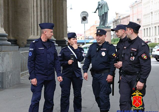 Polscy policjanci w Petersburgu