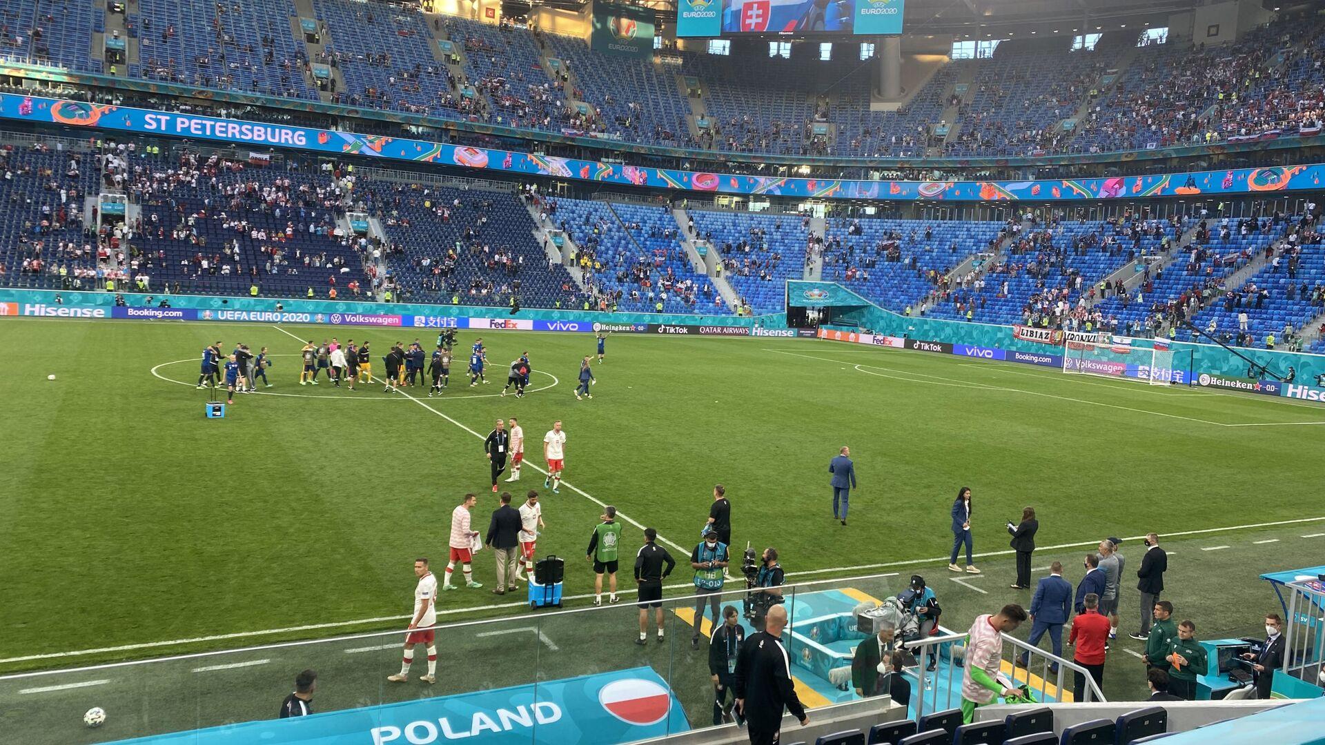 Reprezentacja Polski na meczu ze Słowacją na Euro 2020 - Sputnik Polska, 1920, 15.06.2021