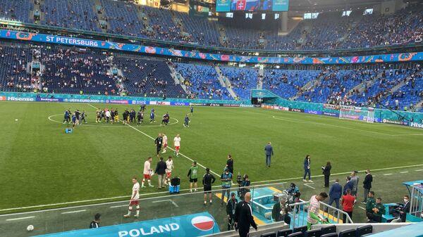 Reprezentacja Polski na meczu ze Słowacją na Euro 2020 - Sputnik Polska
