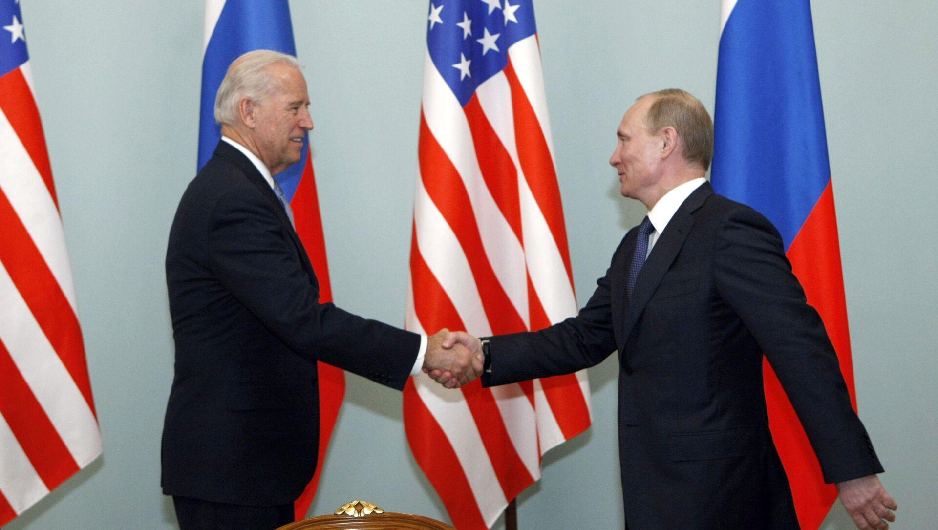 Spotkanie Władimira Putina z Josephem Bidenem. Zdjęcie archiwalne - Sputnik Polska, 1920, 15.06.2021