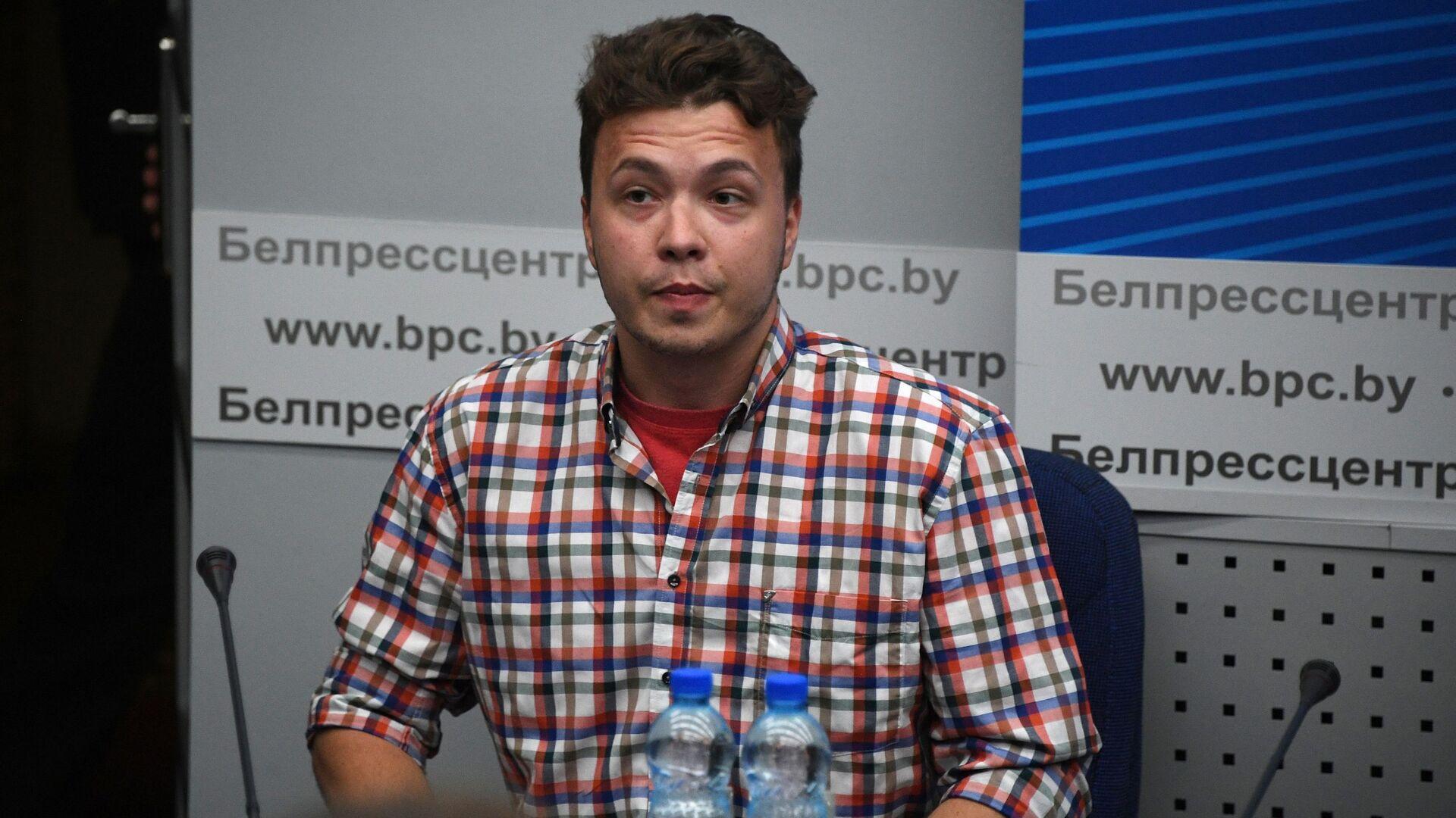Raman Pratasiewicz na konferencji prasowej w Mińsku - Sputnik Polska, 1920, 25.06.2021