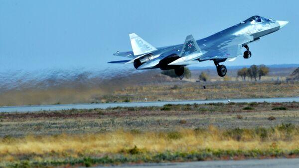 Myśliwiec piątej generacji Su-57 - Sputnik Polska