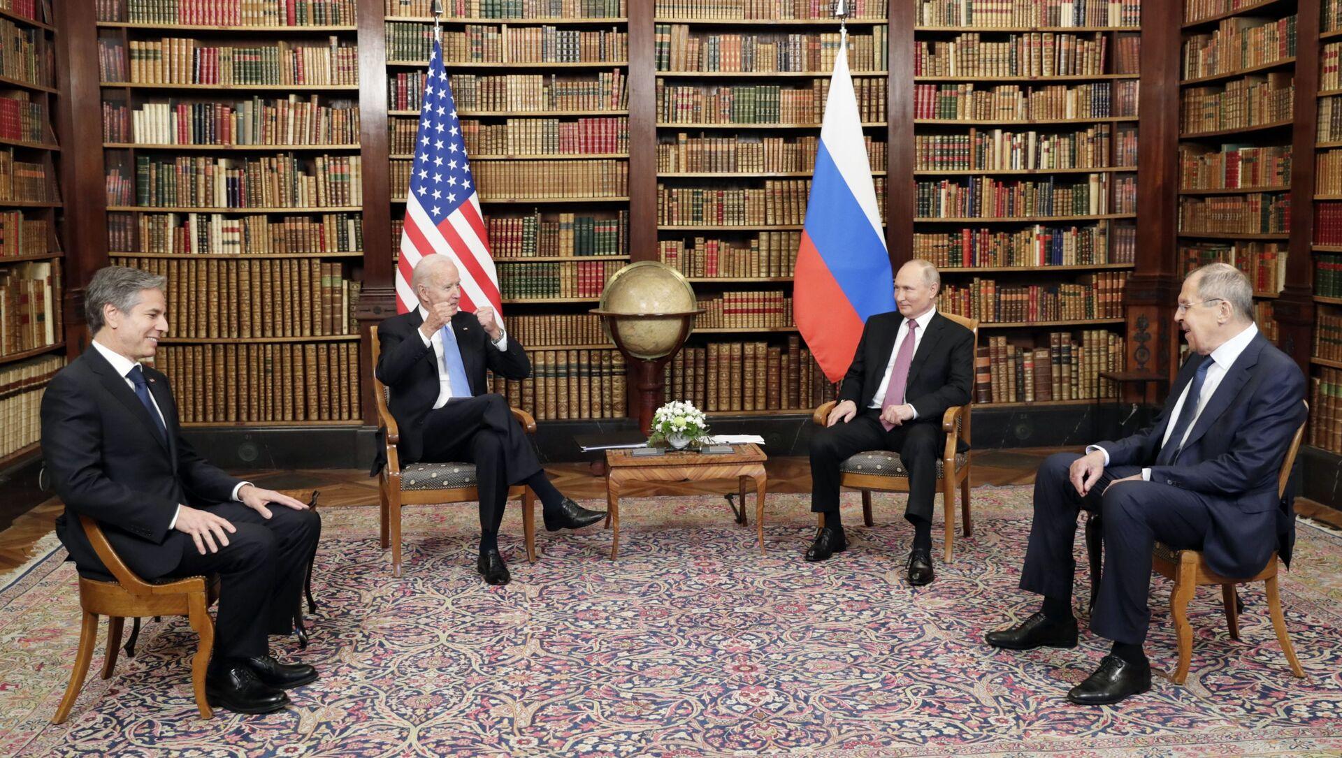 Spotkanie Joe Bidena, Władimira Putina, Antony'ego Blinkena i Siergieja Ławrowa w Genewie - Sputnik Polska, 1920, 17.06.2021