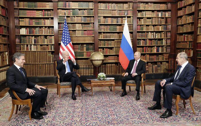 Spotkanie Joe Bidena, Władimira Putina, Antony'ego Blinkena i Siergieja Ławrowa w Genewie