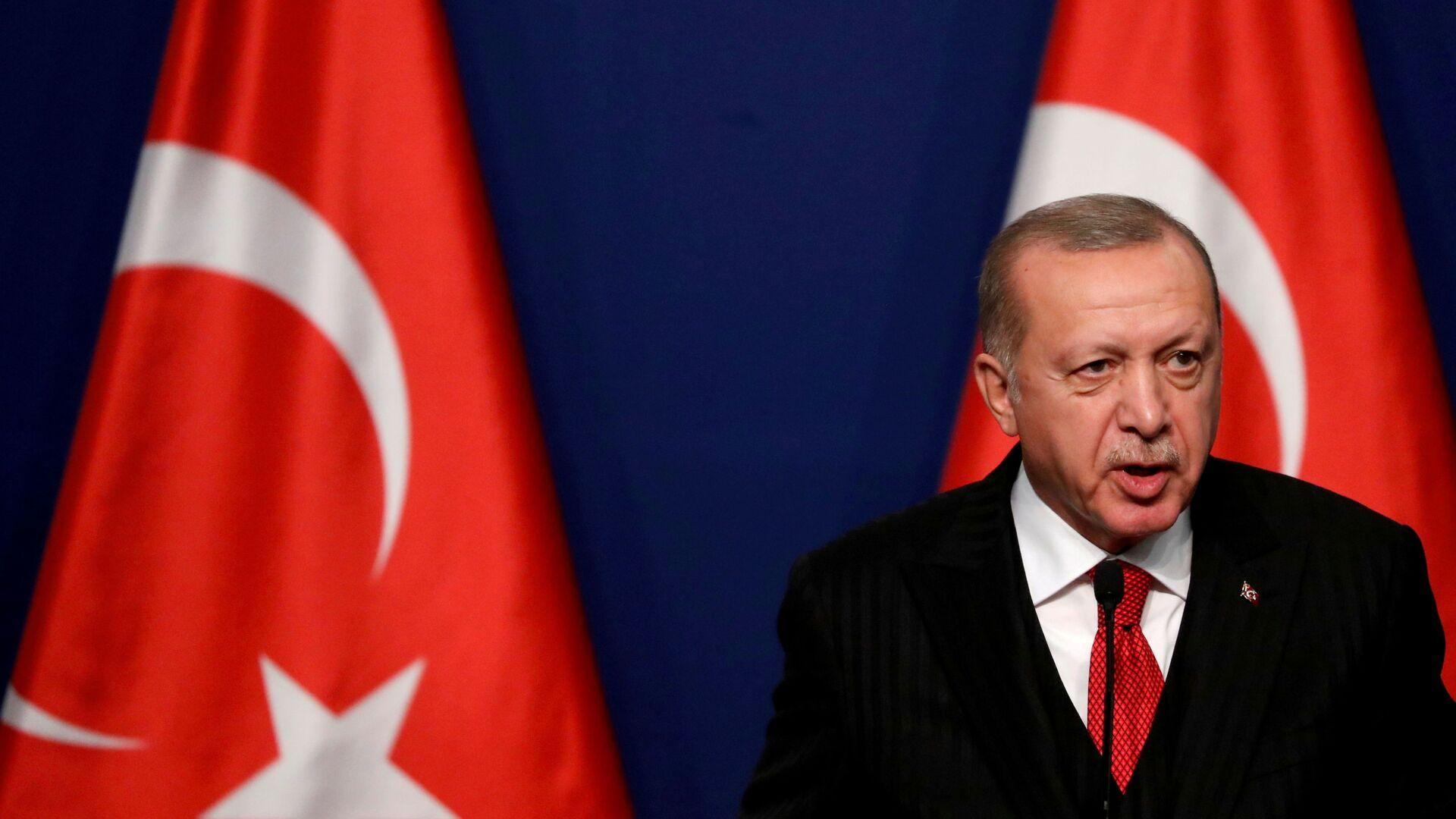 Prezydent Turcji Recep Tayyip Erdogan. - Sputnik Polska, 1920, 29.08.2021