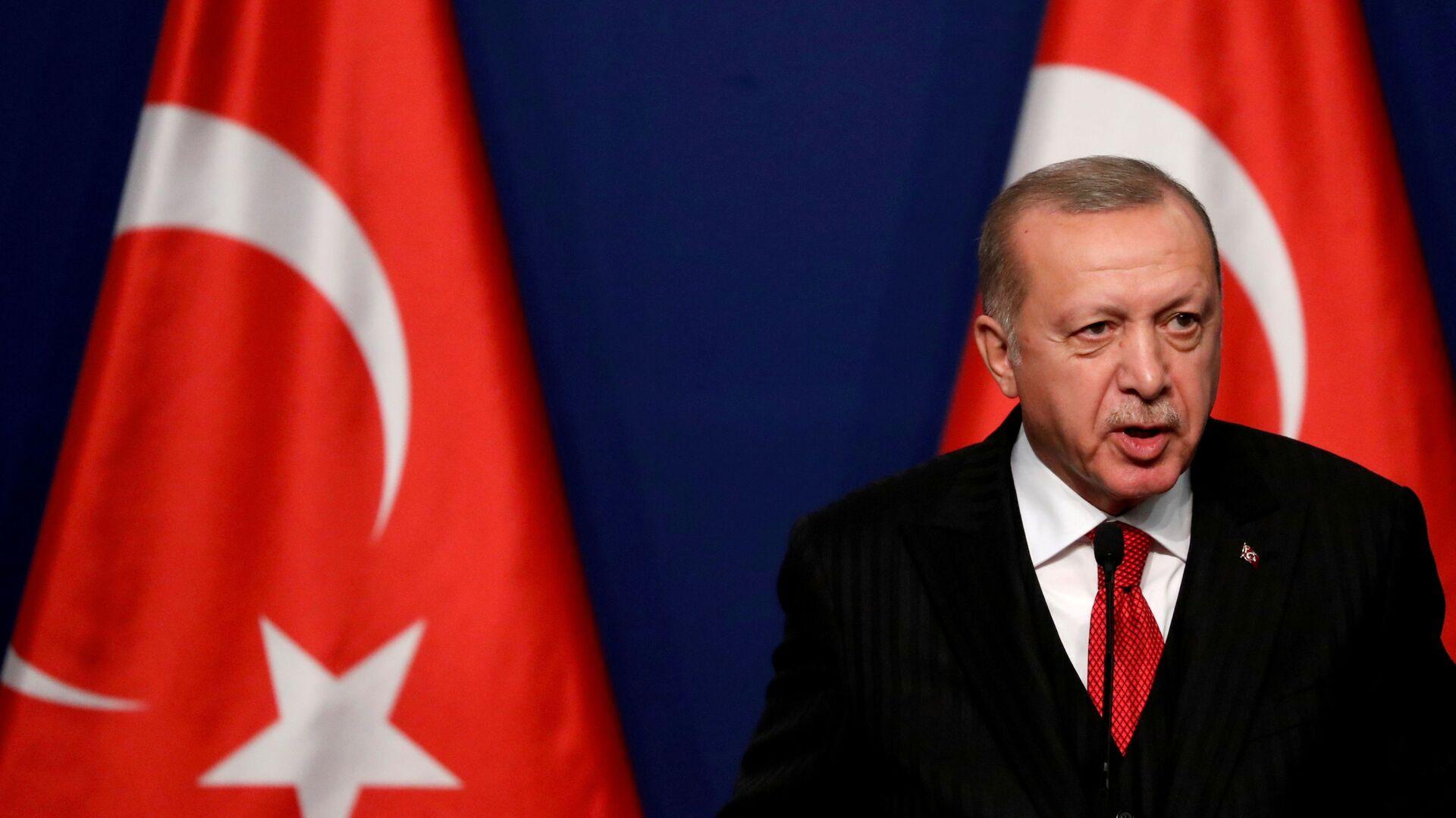 Prezydent Turcji Recep Tayyip Erdogan. - Sputnik Polska, 1920, 16.06.2021