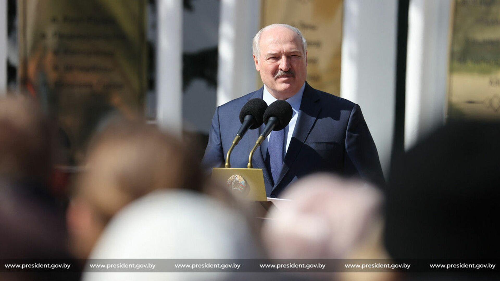 Prezydent Białorusi Aleksandr Łukaszenka. - Sputnik Polska, 1920, 17.06.2021