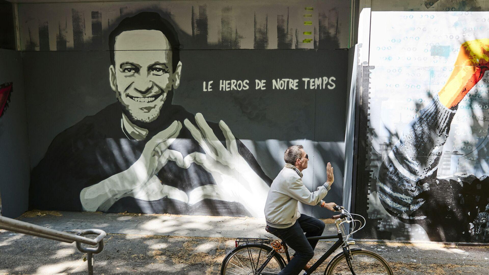 Graffiti przedstawiające Aleksieja Nawalnego autorstwa szwajcarskiego artystów Julien Baro & Lud, Szwajcaria. - Sputnik Polska, 1920, 17.06.2021