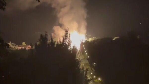 Wybuch gazociągu w Ługańsku - Sputnik Polska