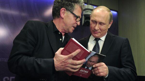 Hubert Seipel i Wladimir Putin - Sputnik Polska
