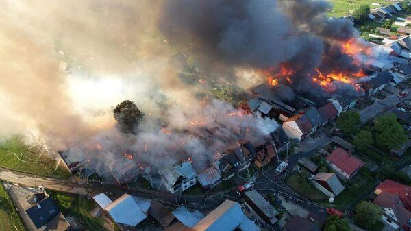 Pożar we wsi Nowa Biała - Sputnik Polska