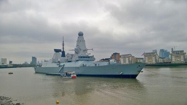 Британский эсминец Type 45 HMS Defender в Гринвиче - Sputnik Polska