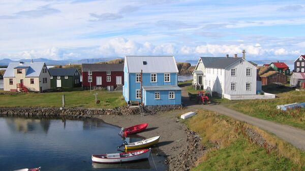 Поселок на острове Флатей, Исландия - Sputnik Polska