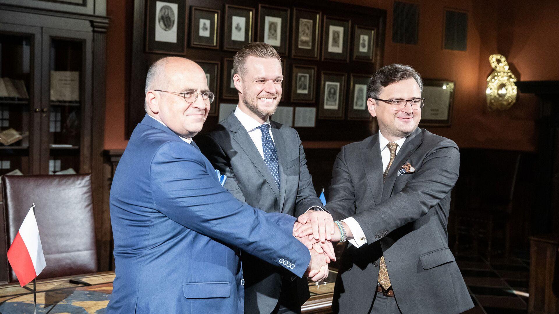 Spotkanie ministrów spraw zagranicznych Polski, Litwy i Ukrainy w Wilnie - Sputnik Polska, 1920, 07.07.2021