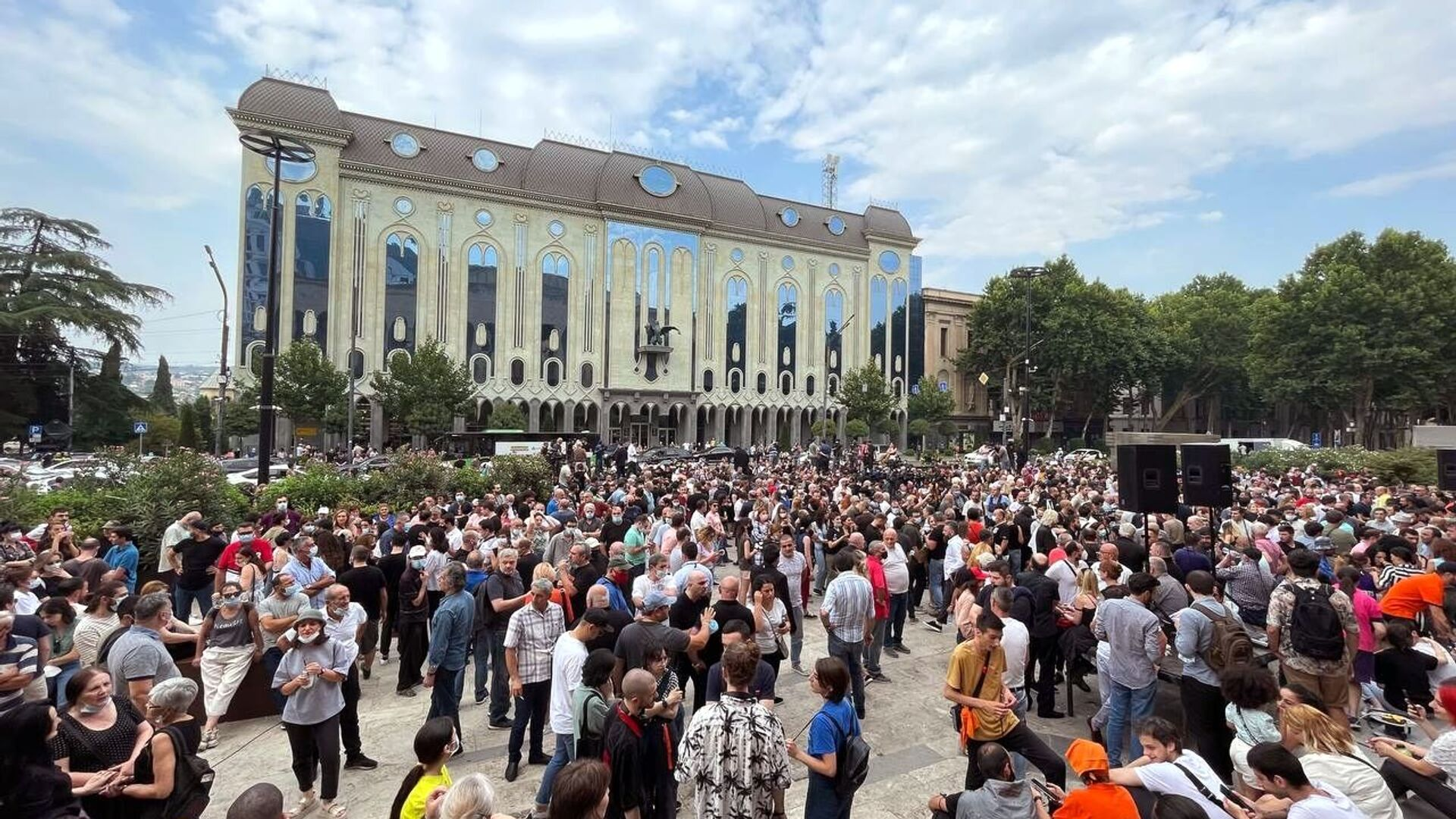 Protesty w Tbilisi - Sputnik Polska, 1920, 12.07.2021