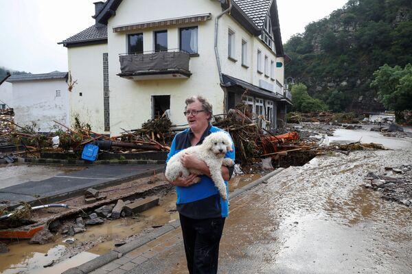 Powódź po ulewnych deszczach w Schuld w Niemczech, 15 lipca 2021 r. - Sputnik Polska