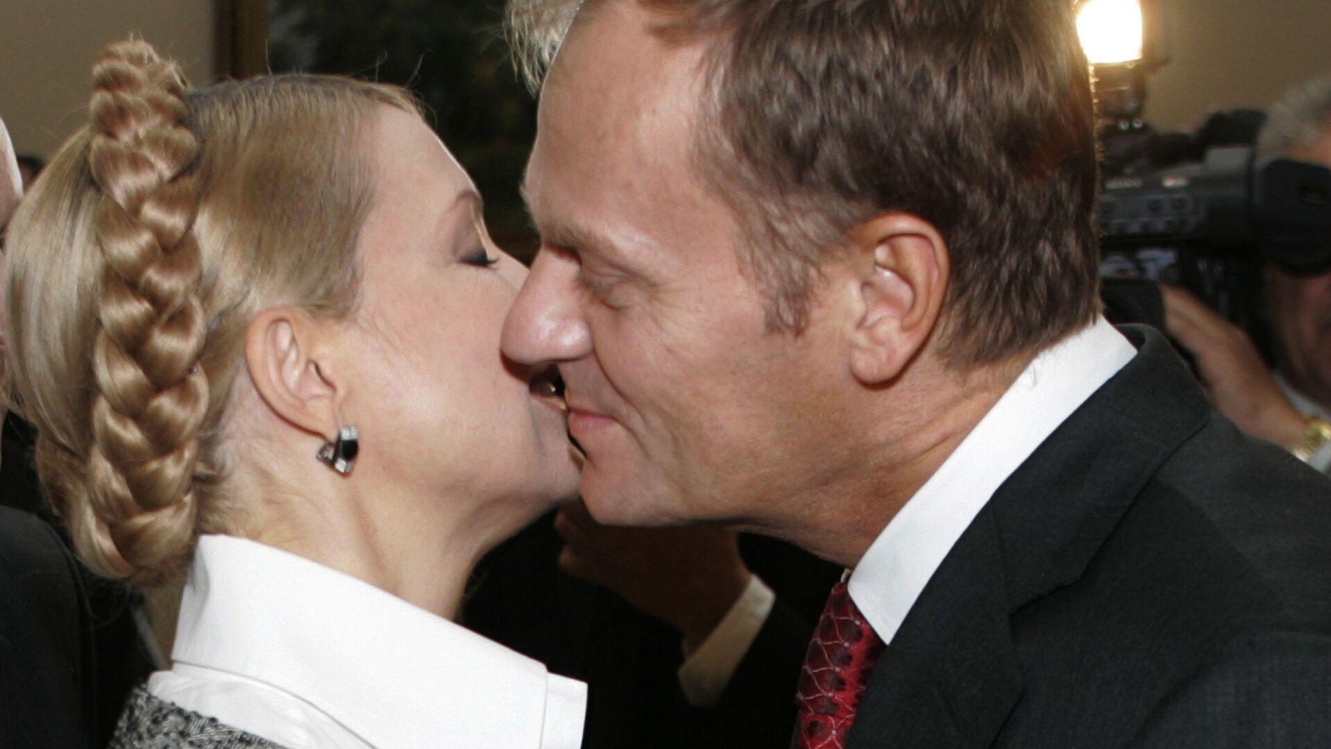 Donald Tusk i Julia Tymoszenko w Kijowie, 2008 r. - Sputnik Polska, 1920, 19.07.2021