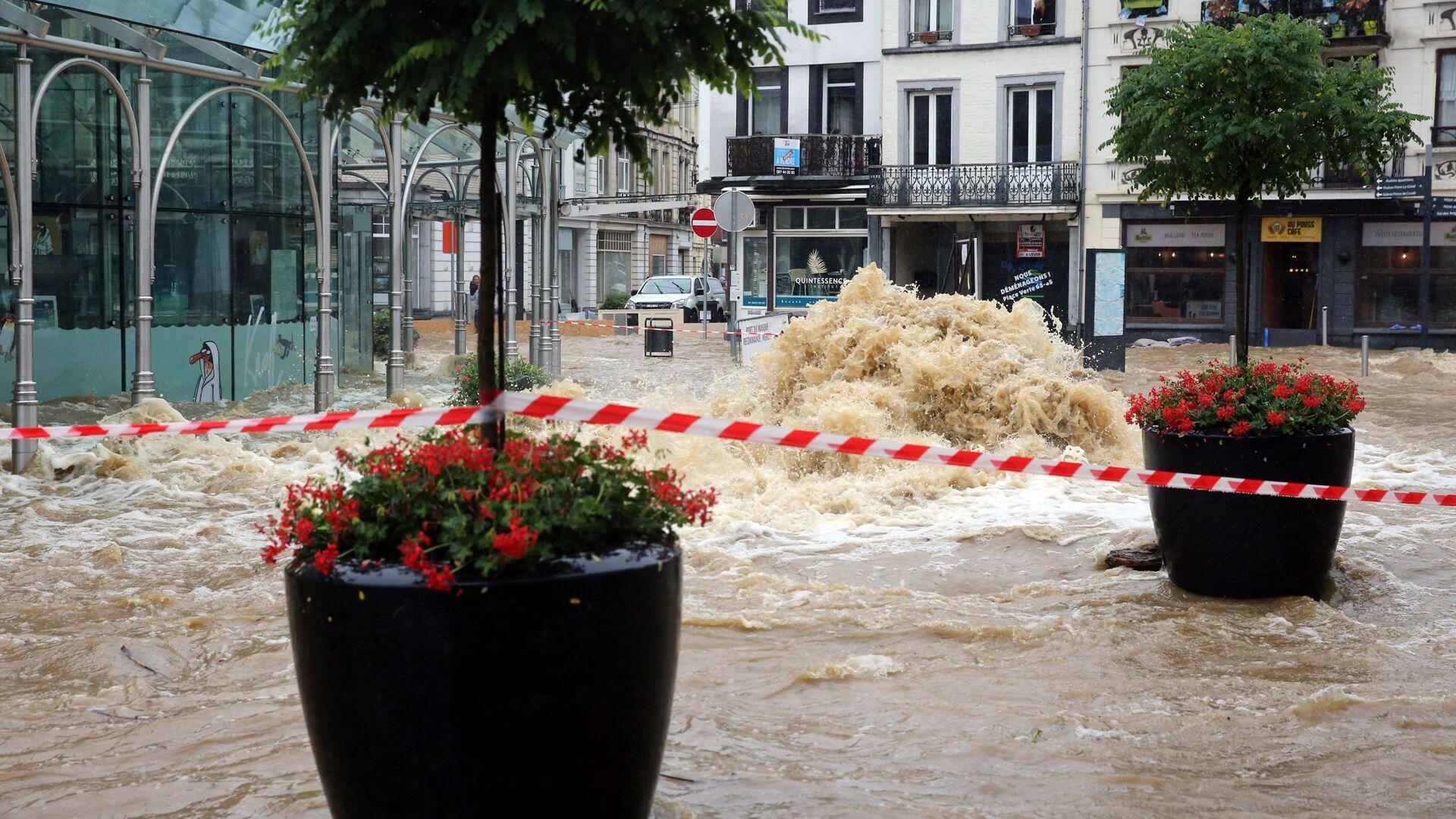 Powódź w Belgii - Sputnik Polska, 1920, 27.07.2021