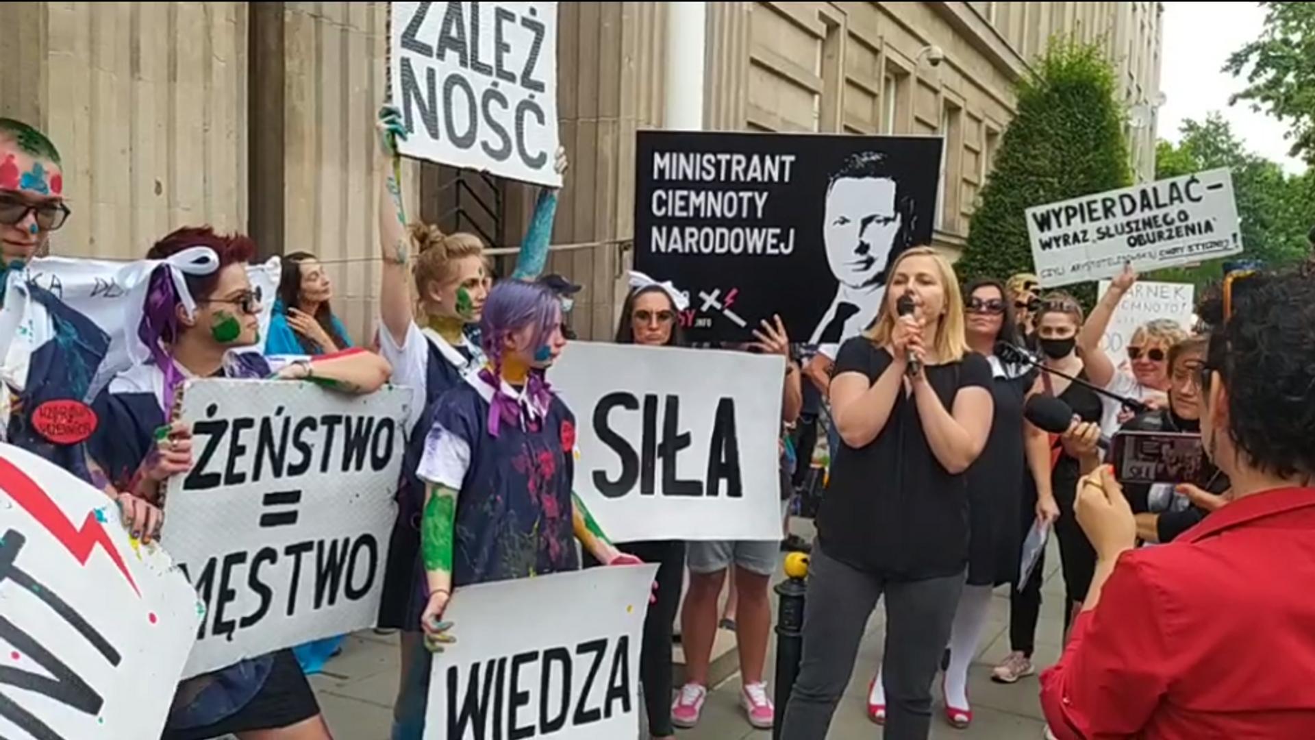 Protest pod Ministerstwem Edukacji i Nauki w Warszawie - Sputnik Polska, 1920, 19.07.2021