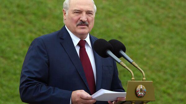 Президент Белоруссии Александр Лукашенко на торжественном митинге, посвященном Дню независимости Белоруссии - Sputnik Polska