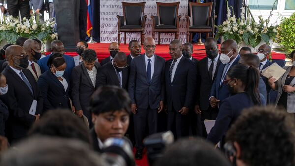 Вступление Ариэля Анри в должность премьер-министра Гаити  - Sputnik Polska