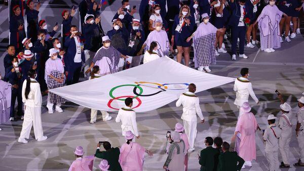 Flaga Igrzysk Olimpijskich w Tokio - Sputnik Polska