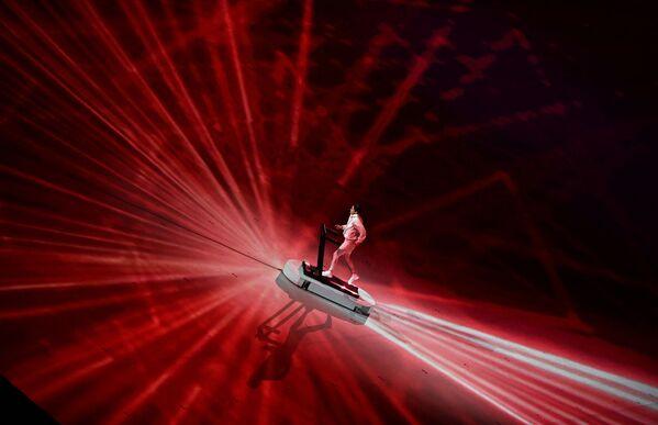 Arisa Tsubata występuje podczas ceremonii otwarcia Igrzysk Olimpijskich Tokio 2020. - Sputnik Polska