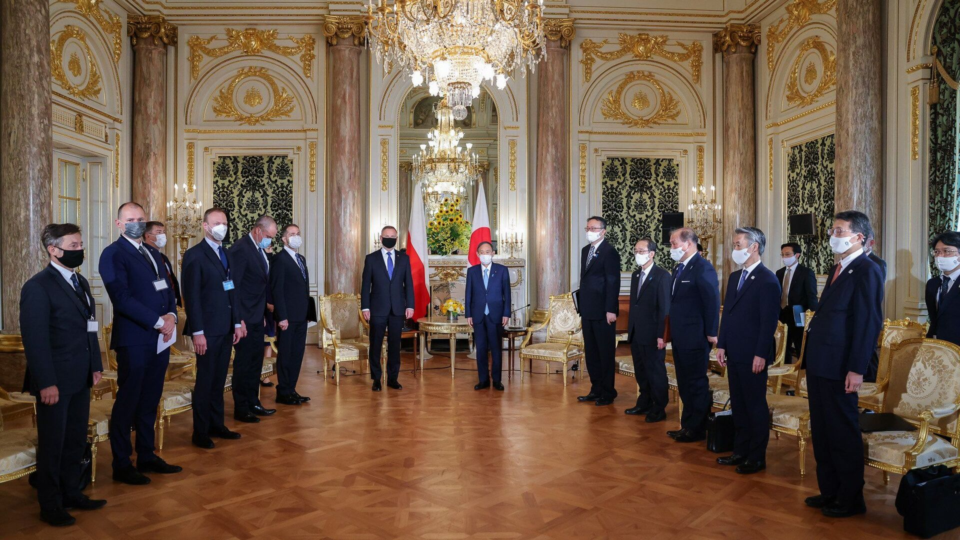 Spotkanie Andrzeja Dudy premierem Japonii  - Sputnik Polska, 1920, 24.07.2021