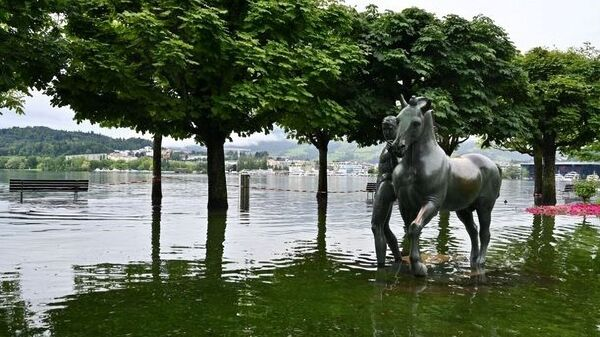 Потоп в кантоне Люцерн в Швейцарии - Sputnik Polska