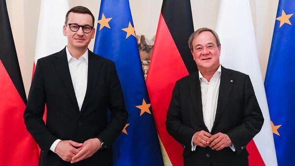 Встреча премьер-министров Польши и земли Северного Рейна-Вестфалия Матеуша Моравецкого и Армина Лаше - Sputnik Polska