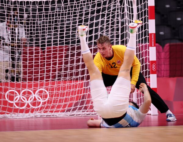 Piłka ręczna, mecz Norwegia-Argentyna. - Sputnik Polska