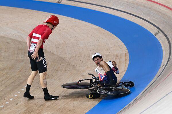 Kolarstwo – sprint drużynowy, zawodowcy z Danii i Wielkiej Brytanii.  - Sputnik Polska