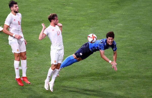 Piłka nożna: Mecz Japonia-Hiszpania. - Sputnik Polska
