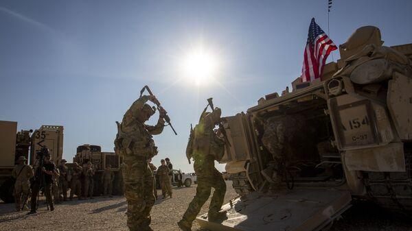 Солдаты на военной базе США в Сирии - Sputnik Polska