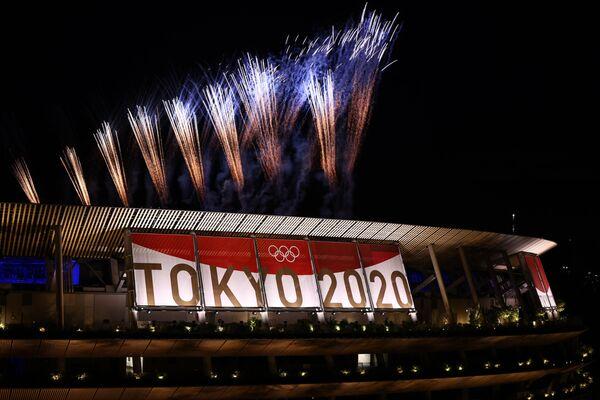 Ceremonia Zamknięcia Igrzysk Olimpijskich Tokio 2020 - Stadion Olimpijski, Tokio - Sputnik Polska
