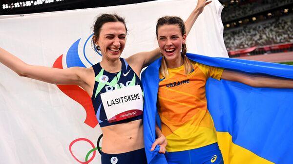 Jarosława Maguczich, która sfotografowała się na Olimpiadzie z Rosjanką Mariją Łasickiene po konkurencji skoków wzwyż - Sputnik Polska