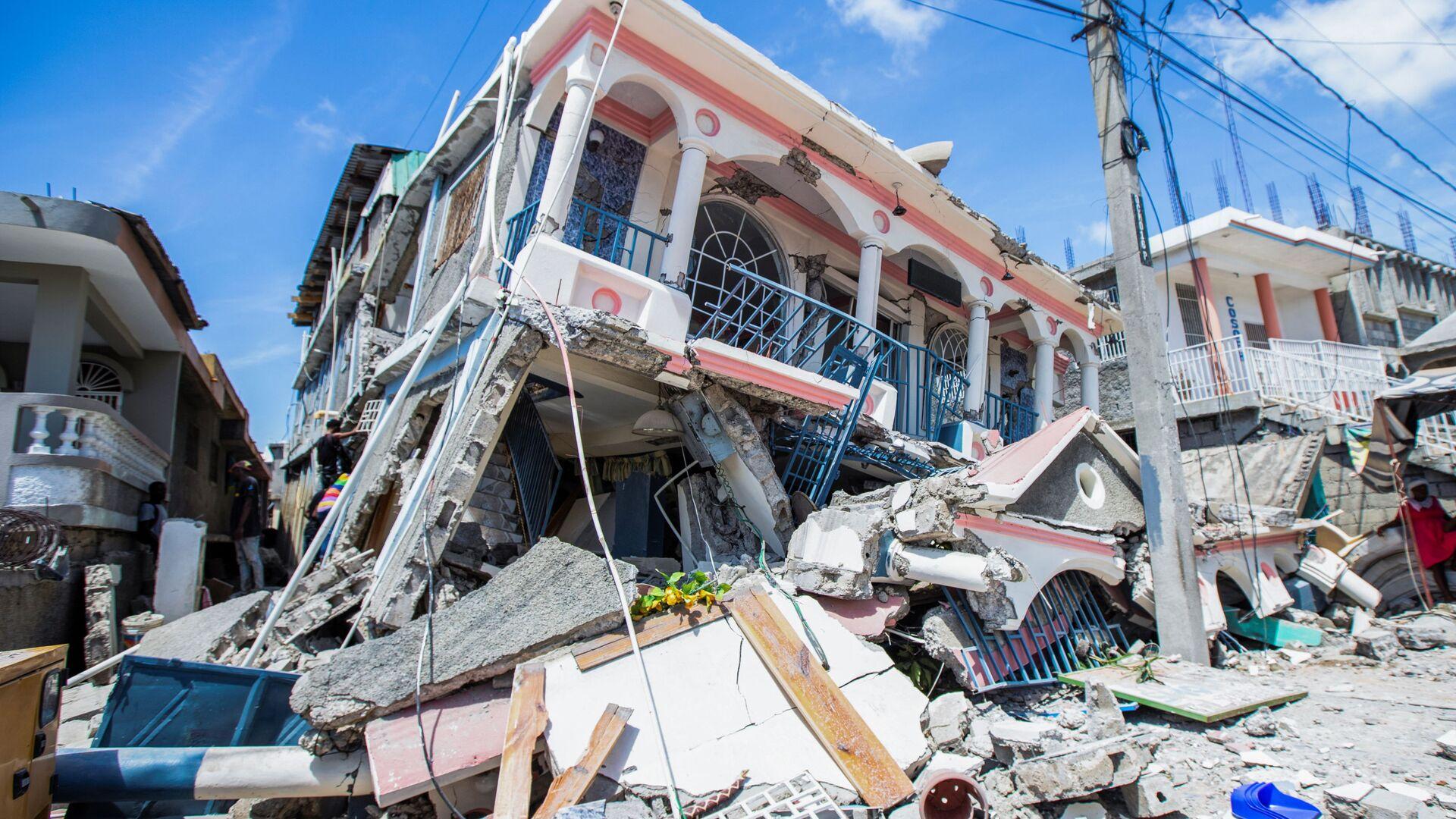 Trzęsienie ziemi na Haiti - Sputnik Polska, 1920, 15.08.2021