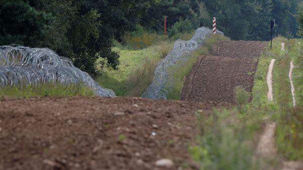 Пограничные столбы на польско-белорусской границе - Sputnik Polska