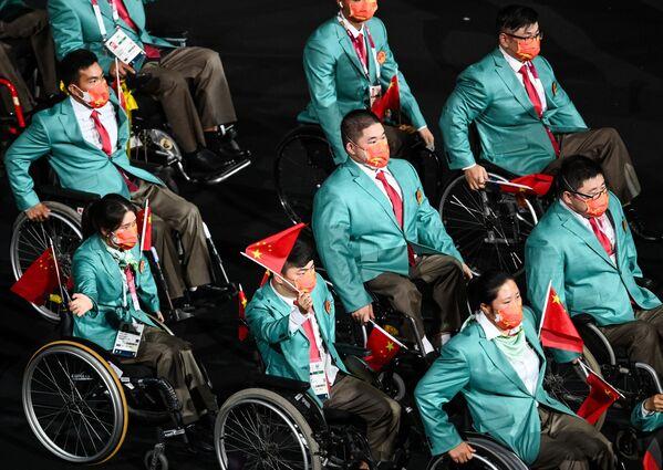 Chińscy sportowcy na ceremonii otwarcia XVI letnich igrzysk paraolimpijskich - Sputnik Polska